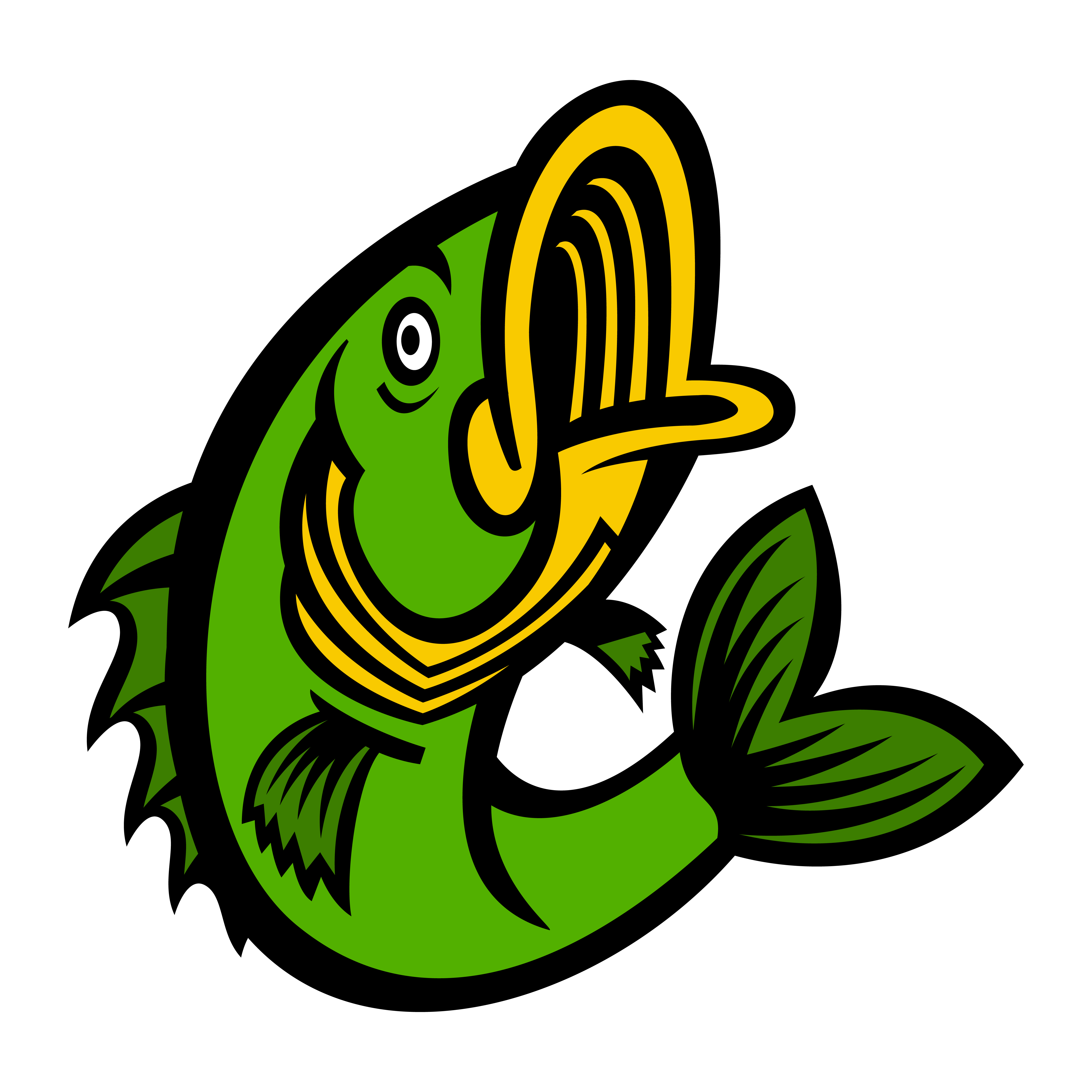 fish jumping vector bass icon largemouth vectors vecteezy badge graphics downloads clipart