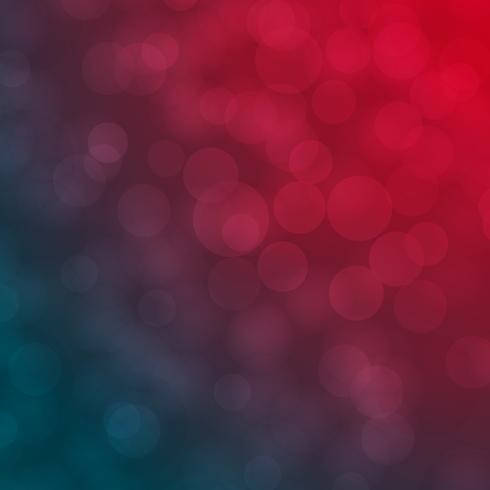 Fondo de vector abstracto rojo y azul bokeh