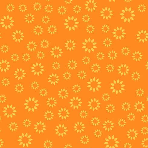 Seamless pattern background. Modern abstract and Classical antique concept. Geometric creative design stylish theme. Illustration vector. Orange and yellow tone color. Floral and Sun flower shape