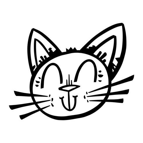 Cute Happy Friendly Cartoon Cat vector
