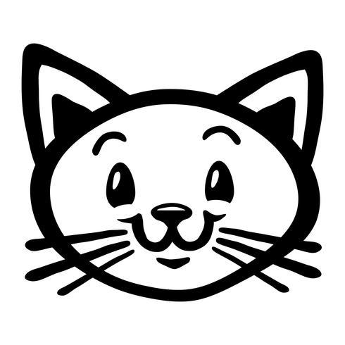 Cute Happy Friendly Cartoon Cat Download Free Vectors Clipart Graphics Vector Art