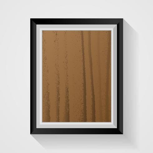 Realistic wooden photo frame on white background. Decoration and interior concept. Minimal and Realistic theme.