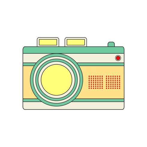 Kamera Ikon för ditt projekt i retrofärg