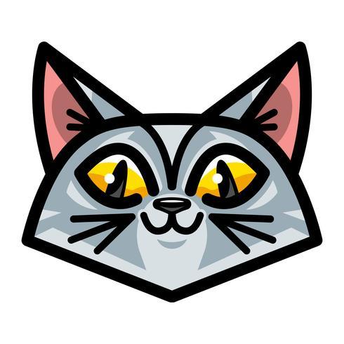 Cute Happy Friendly Cartoon Cat