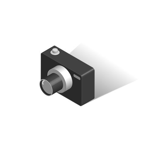 Digital Camera isometric Isolated vector
