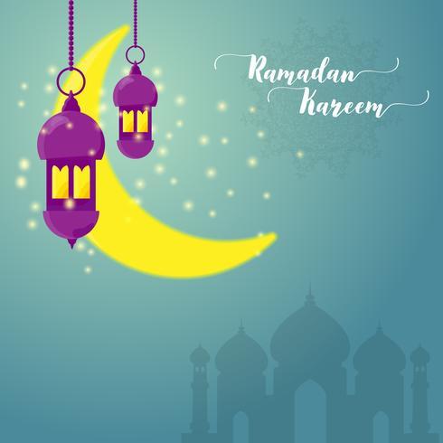tarjeta de felicitación de Ramadan Kareem vector