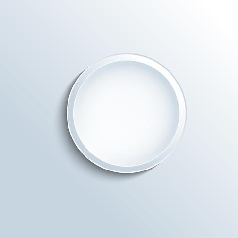 Weißer konkaver Knopfvektor