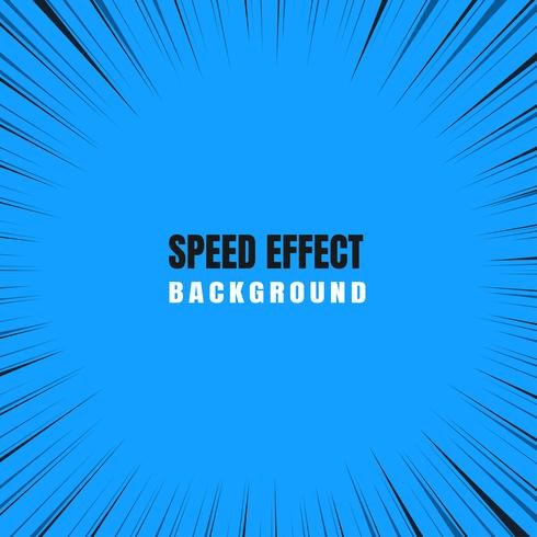Fast motion zoom effect In a blue comic background.