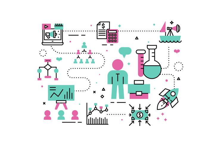 Ilustración de análisis de negocios