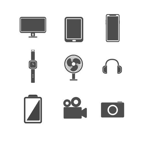 Conjunto de ícones eletrônicos. Conceito de ilustração vetorial. Fundo branco isolado