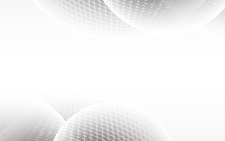 Vecteur de fond abstrait blanc Résumé gris. Contexte de conception moderne pour le modèle de présentation de rapport et de projet. Illustration vectorielle Concept de forme de courbe futuriste et circulaire.