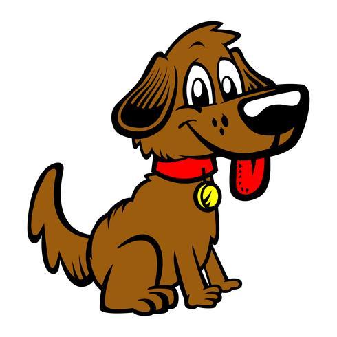 Netter freundlicher Karikaturhund vektor