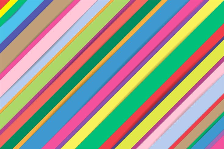 Abstrait bandes colorées ligne fond. vecteur