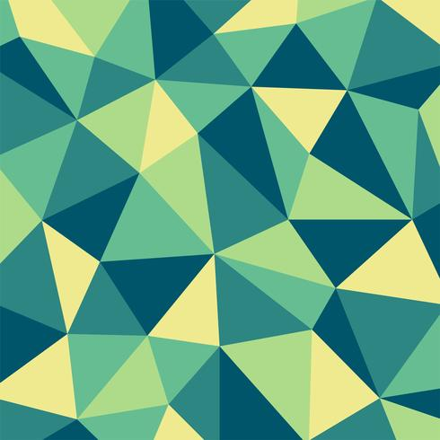 Fondo verde e giallo del modello di mosaico del poligono