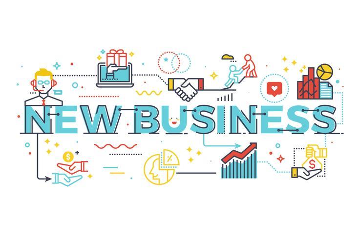 New business word illustration