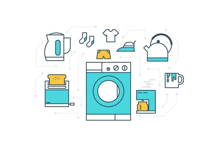 Ilustración de electrodomésticos vector