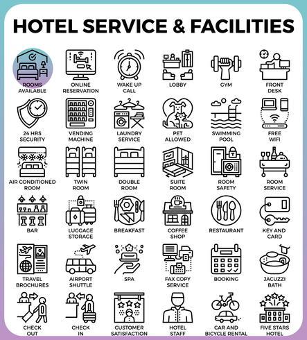 Servicios e instalaciones del hotel vector