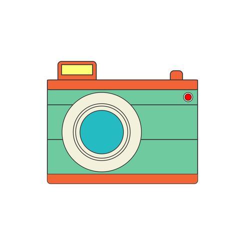 Camerapictogram voor uw project in retro-kleur