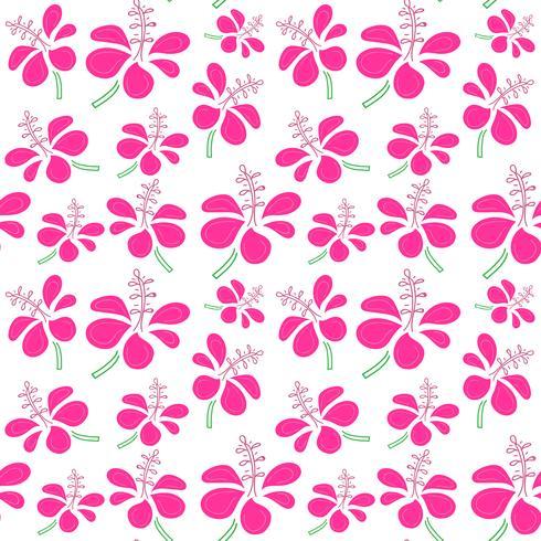 Naadloos patroon met tropische bloemenachtergrond. Vectorillustraties voor gift wrap ontwerp.