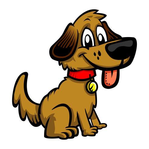 Cão bonito dos desenhos animados