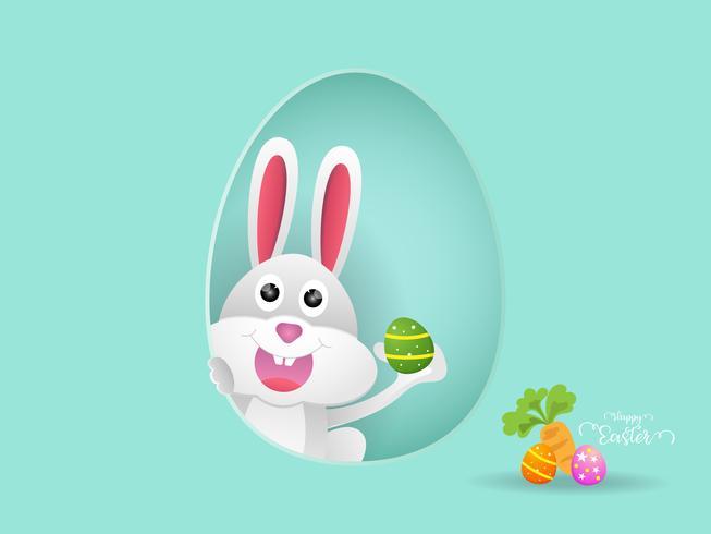 kanin eller kanin med påskägg