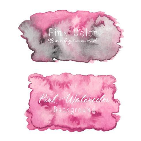Fond aquarelle abstraite rose. Élément d'aquarelle pour la carte. Illustration vectorielle