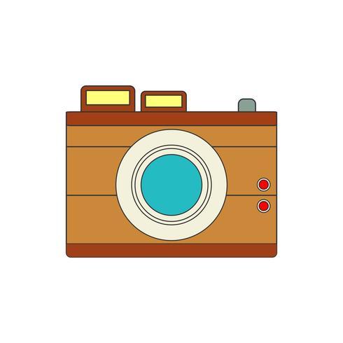 Icona della fotocamera per il tuo progetto in colori retrò