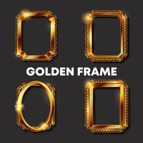 Decorative vintage golden frames and borders
