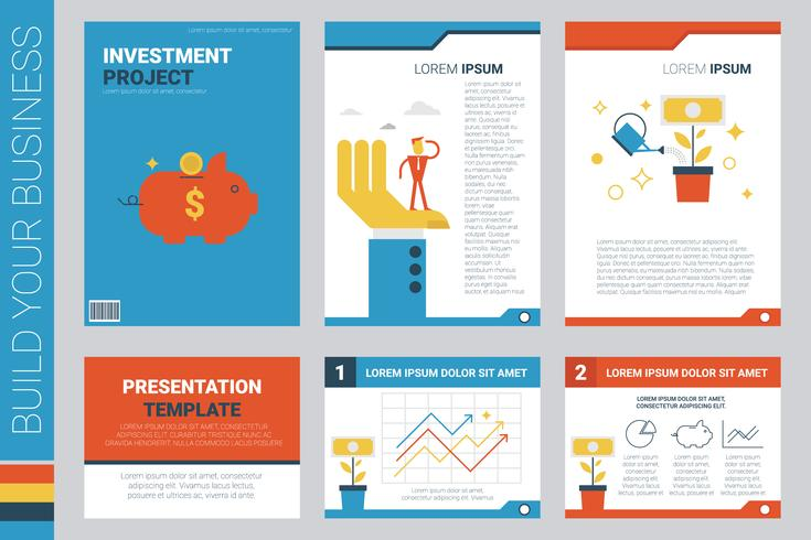 Investment project book cover and presentation template