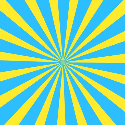 Yellow and ??Blue Summer Abstract Comic Cartoon Sunlight Background. Vector Illustration.