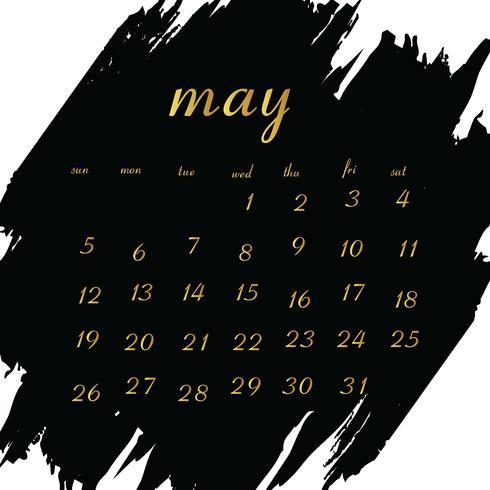 Calendario 2019 per il tuo progetto vettore