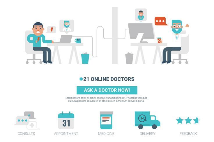 Concept de docteur en ligne