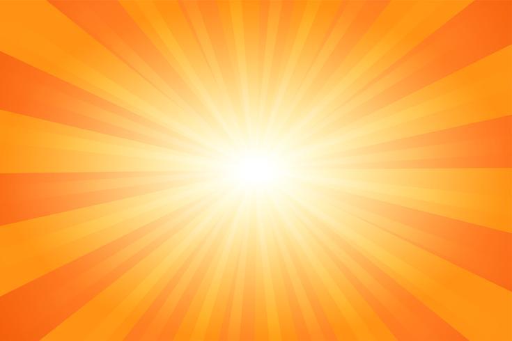 Fondo anaranjado de la luz del sol de la historieta cómica abstracta del verano. Ilustracion vectorial