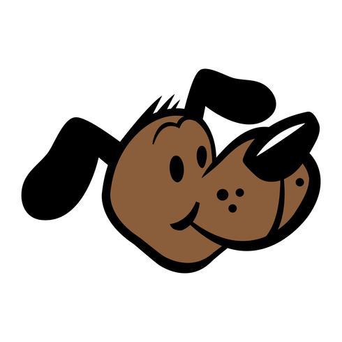 Cute friendly cartoon dog vector