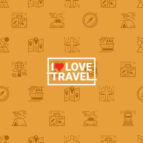 Reizen concept naadloze oranje achtergrond