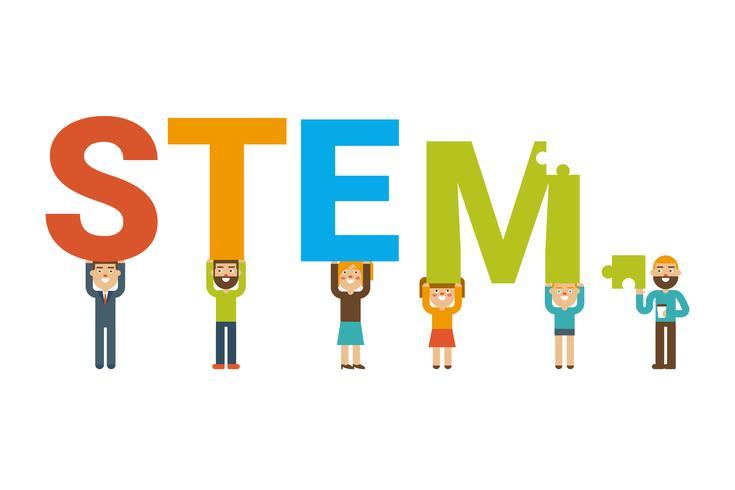 Conceito de equipe STEM