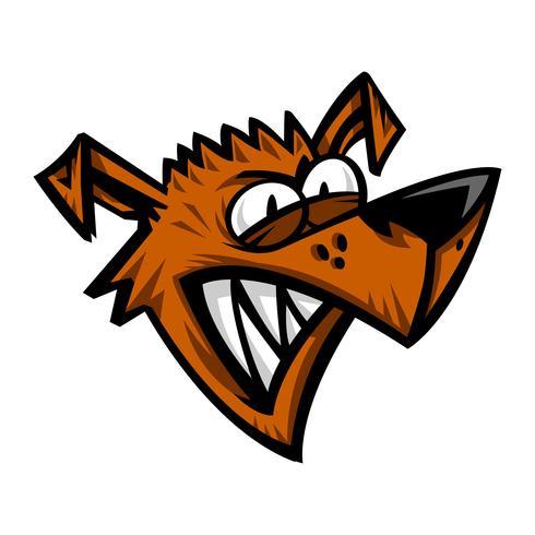 Ilustración de vector de dibujos animados de perro enojado