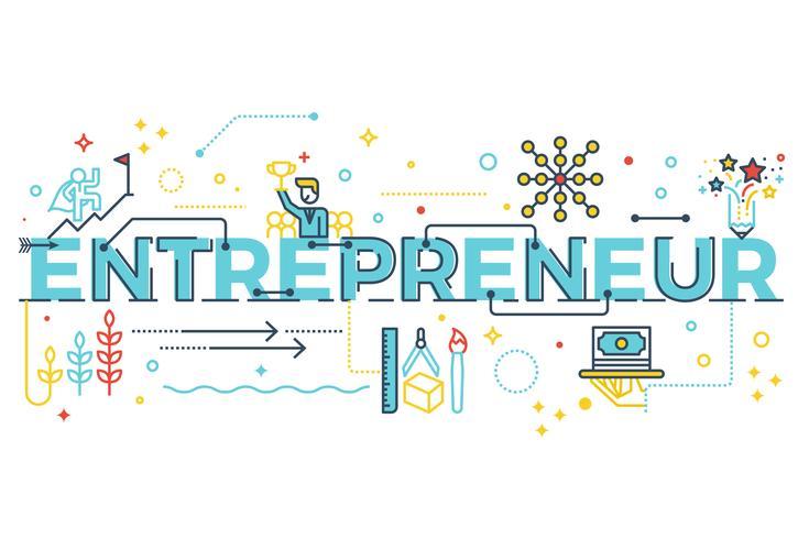 Unternehmer-Wort-Schriftzug
