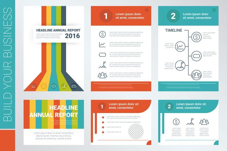 Capa de livro de relatório anual e modelo de apresentação