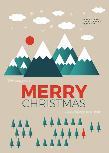 Jul hälsningskort