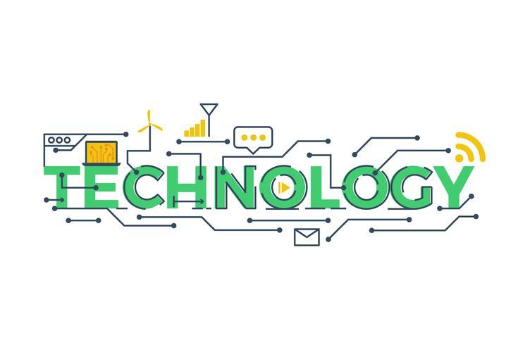 Technologie Wort Illustration