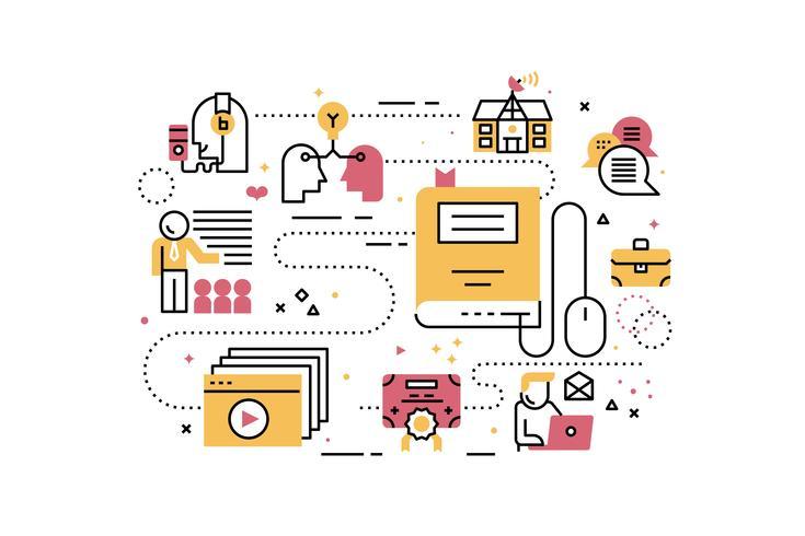 Treinamento de educação online vetor
