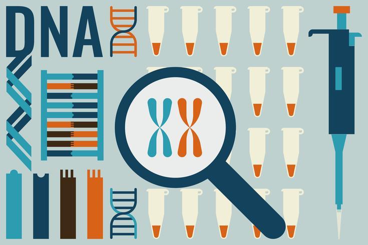 Concetto di laboratorio di biologia molecolare vettore