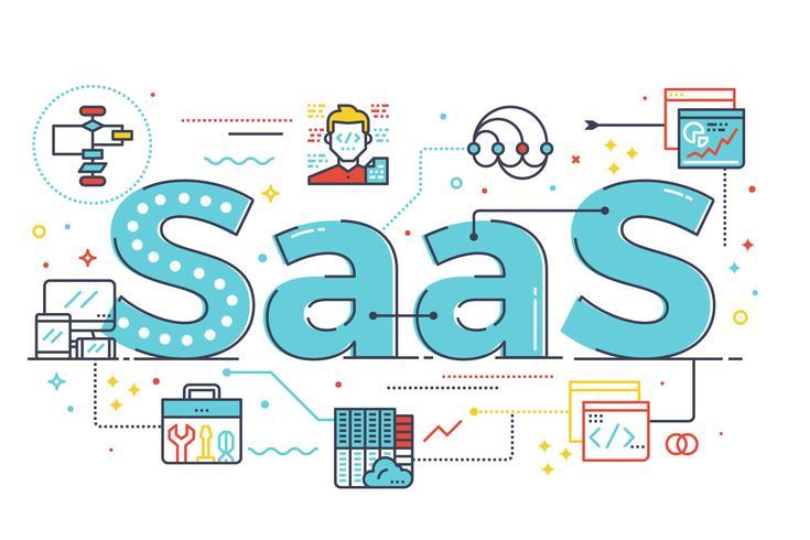 SaaS-Wortillustration