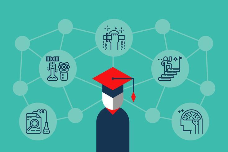 Ilustração de conhecimento de educação