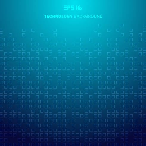 Abstract squares pattern futuristic transfer data on blue background technology concept vector