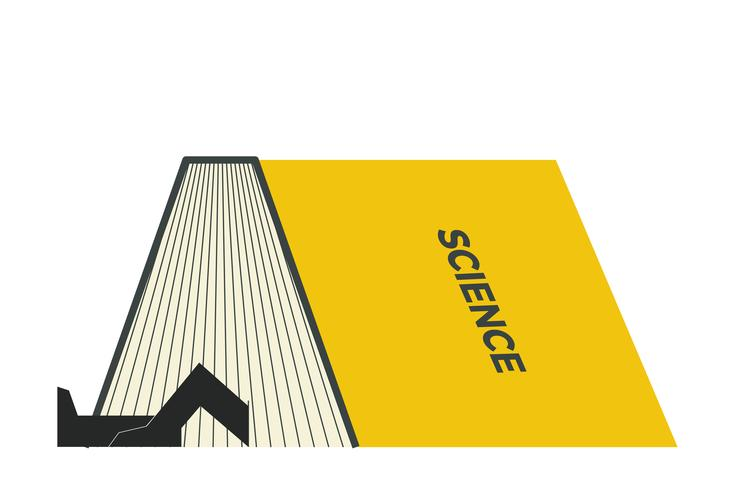 STEM book illustration vector
