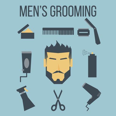 Grooming maschile vettore