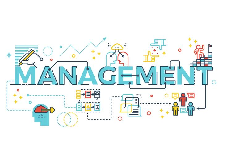 Management word lettering