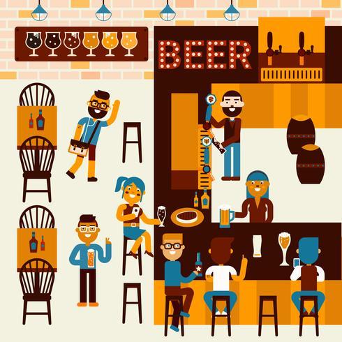 Lugar de cerveza vector